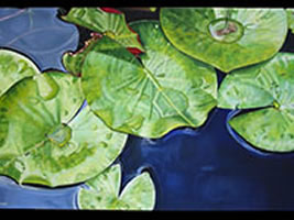 Image 5 - Everglades Series 1 - Lilies oil on canvas